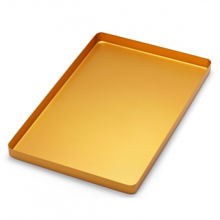 PLATEAU GRAND ALUMINIUM GOLDEN