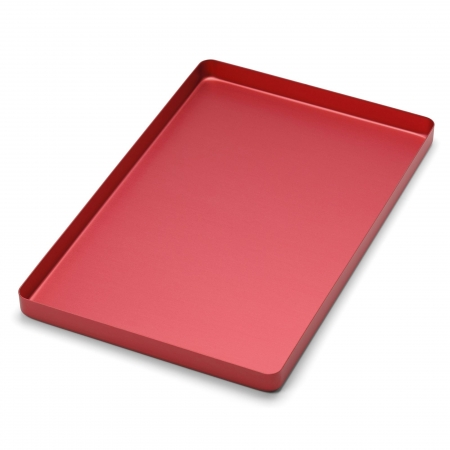 PLATEAU GRAND ALUMINIUM ROUGE